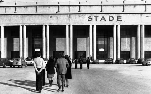 Le stade vélodrome - cliché d'époque